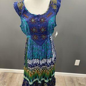 NWT Dressbarn Boho Style Summer Dress Small